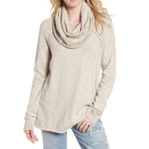 Free People FP Beach Tan Cocoon Cowl Neck Sweater